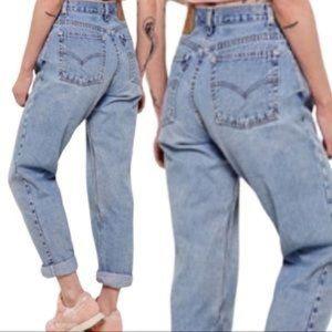 Vintage Levi 550 Lightwash High Waisted Mom Jeans